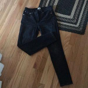 Jcrew high rise skinny jeans